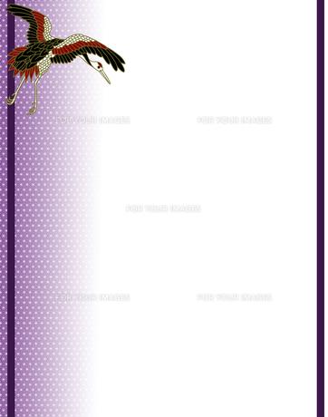 丹頂鶴の和風背景イラストの素材 [FYI00407434]