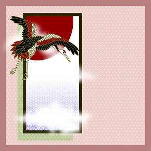 丹頂鶴の和風イラストの素材 [FYI00407443]