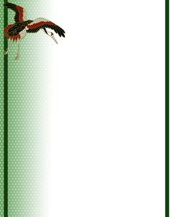 丹頂鶴の和風背景イラストの素材 [FYI00407451]