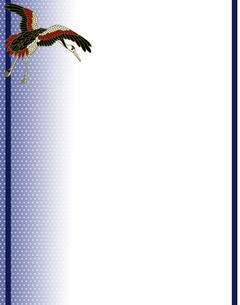 丹頂鶴の和風背景イラストの素材 [FYI00407457]