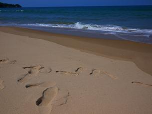 鳴き砂と波の写真素材 [FYI00407525]