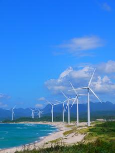 江津の風力発電1の写真素材 [FYI00407632]