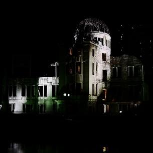 原爆の影 原爆ドームの写真素材 [FYI00407654]