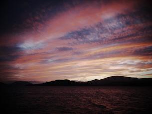 大崎上島で見た夕日の写真素材 [FYI00407737]