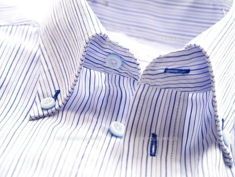 ストライプのワイシャツの素材 [FYI00407838]
