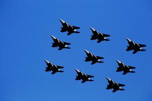 F-15 戦闘機 編隊飛行の素材 [FYI00408055]