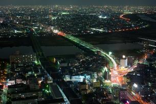 江戸川からの夜景の写真素材 [FYI00408162]