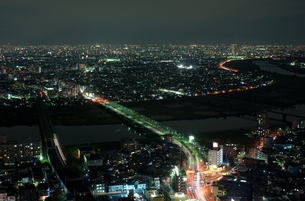 都会の夜景の写真素材 [FYI00408207]