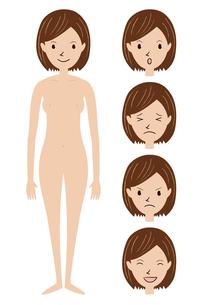 裸の女性のイラスト(全身)の素材 [FYI00408269]