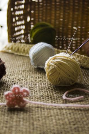 毛糸の玉の写真素材 [FYI00410795]