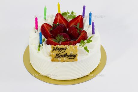 バースデーケーキの写真素材 [FYI00410895]