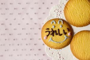 文字入りクッキーの写真素材 [FYI00411048]