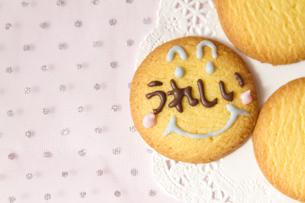 文字入りクッキーの写真素材 [FYI00411057]