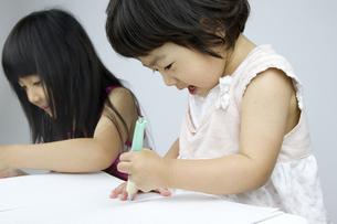 勉強する女の子の写真素材 [FYI00411323]