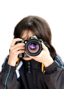 カメラ女子の写真素材 [FYI00411631]