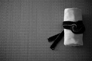 柔道着と畳の写真素材 [FYI00411672]