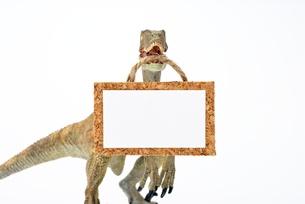 ティラノサウルスの掲示板の写真素材 [FYI00411679]