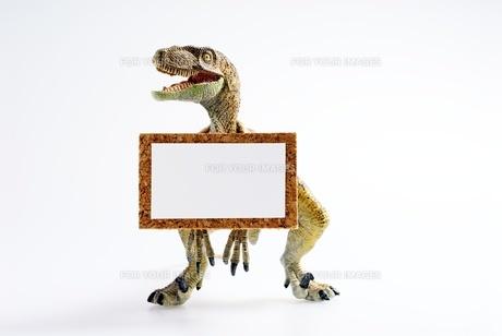 ティラノサウルスの掲示板の写真素材 [FYI00411698]
