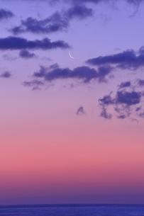 有明月と海の写真素材 [FYI00412006]