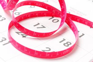 ダイエットメジャーとカレンダーの素材 [FYI00412102]
