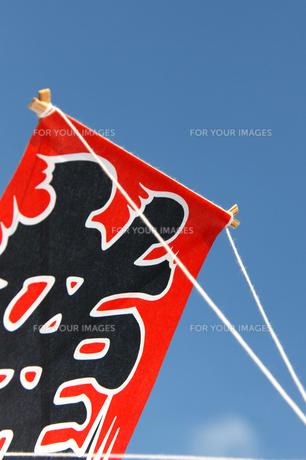 お正月の遊び龍の和凧と空の写真の写真素材 [FYI00412126]