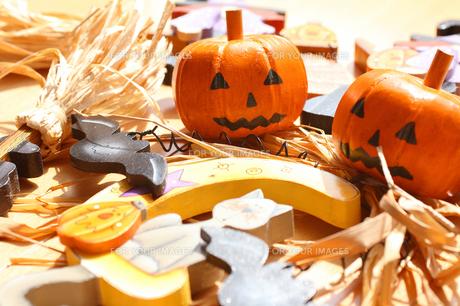 ハロウィンのオブジェかぼちゃの写真の写真素材 [FYI00412141]