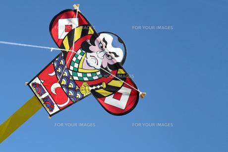 お正月新春のやっこ凧の写真の写真素材 [FYI00412204]