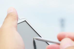 ポケットPCスマートホンの写真の写真素材 [FYI00412236]