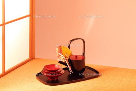 日本の和室 茶室のお屠蘇セットの写真の素材 [FYI00412294]