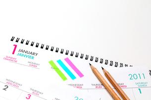 カレンダー2011 鉛筆の写真の素材 [FYI00412328]