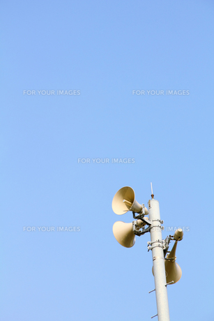 防災無線スピーカーの写真の写真素材 [FYI00412551]