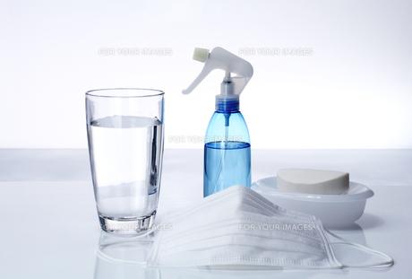 消毒予防セット風邪インフルエンザの写真の素材 [FYI00412558]