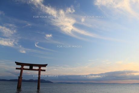 冬空の琵琶湖の写真素材 [FYI00413003]