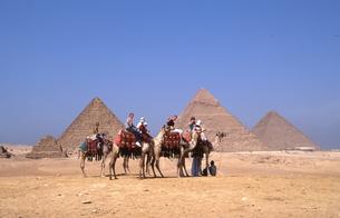 ギザのピラミッドの写真素材 [FYI00413476]