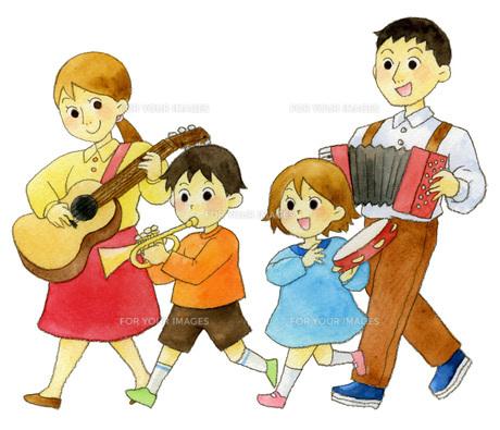 家族音楽隊の写真素材 [FYI00413871]