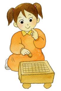 将棋女の子の写真素材 [FYI00413872]