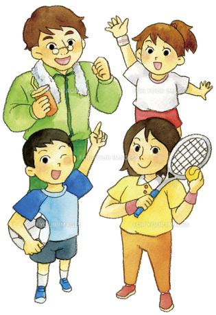 家族でスポーツの写真素材 [FYI00413874]