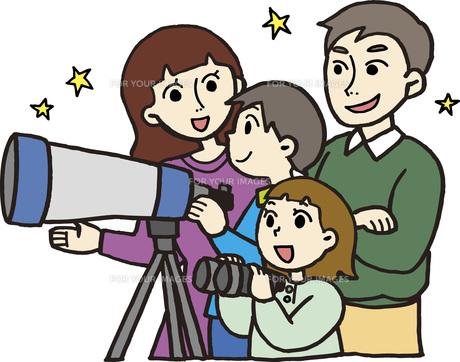 親子で天体観測の写真素材 [FYI00413875]