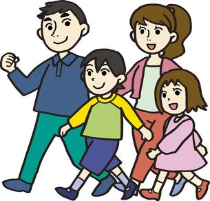 家族で散歩の素材 [FYI00413877]