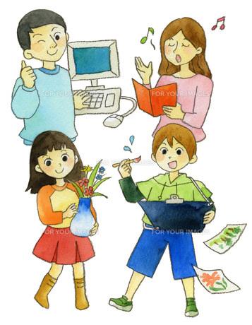 家族で生涯学習の素材 [FYI00413878]