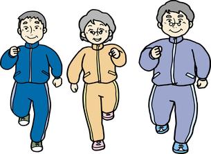 ジョギングする中高年の素材 [FYI00413884]