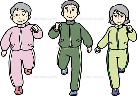 ジョギングする中高年の素材 [FYI00413885]