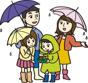 梅雨の親子の素材 [FYI00413890]