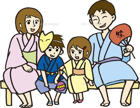 親子で夏祭りの素材 [FYI00413891]