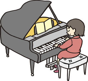 ピアノの発表会の素材 [FYI00413892]
