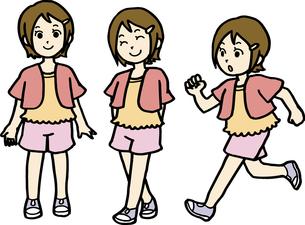 小学生、夏服の女の子の素材 [FYI00413903]