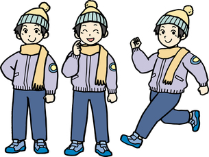 小中学生、冬服の男の子の素材 [FYI00413913]