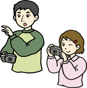 撮影する親子の素材 [FYI00413920]