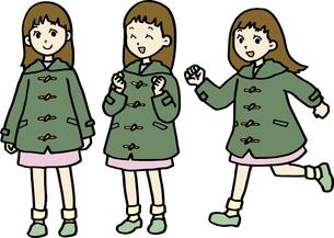 小中学生、冬服の女の子の素材 [FYI00413924]