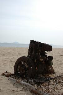 海と機械の写真素材 [FYI00414085]